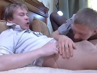 Sexy Twinks Like To Play With Pantyhose