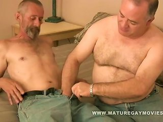 Fat Daddy Gets His  Barebacked By  Lover